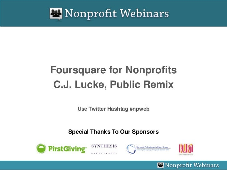 Foursquare for Nonprofits