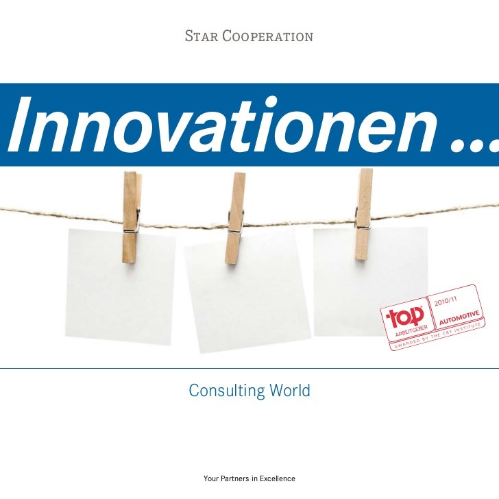 Star CooperationInnovationen ...     Consulting World       Your Partners in Excellence