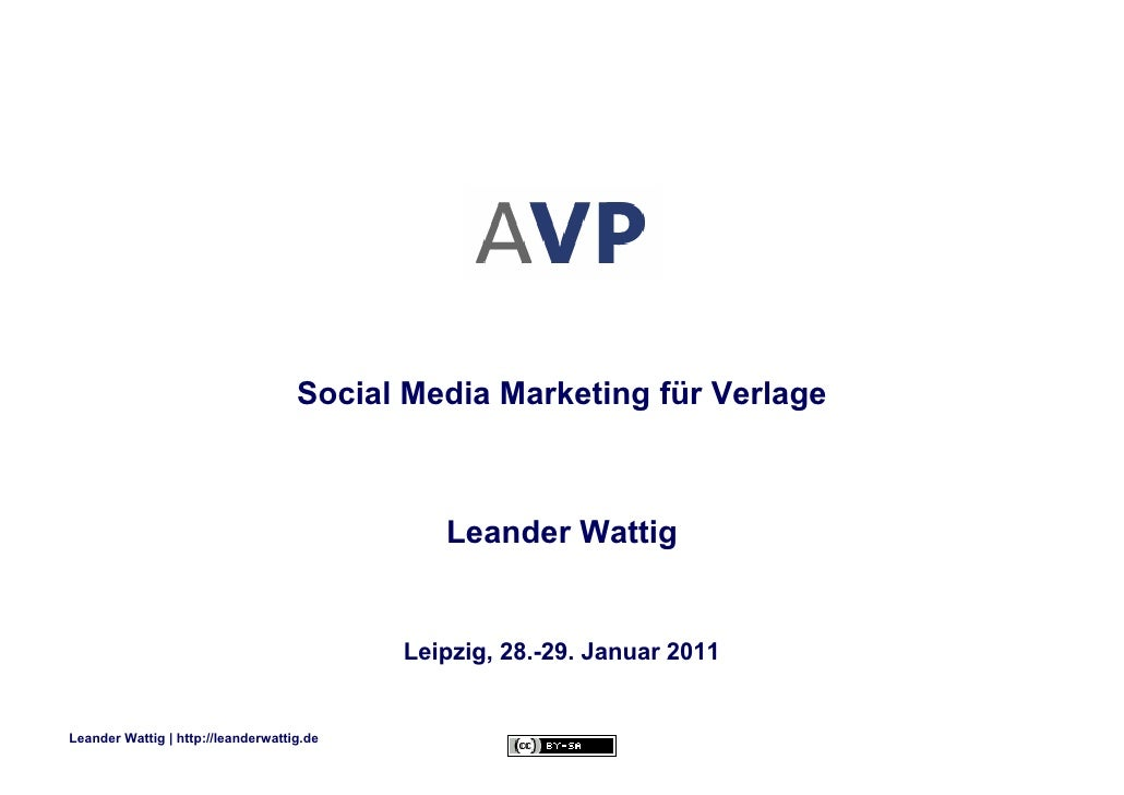 Social Media Marketing für Verlage - AVP-Jahrestagung 2011