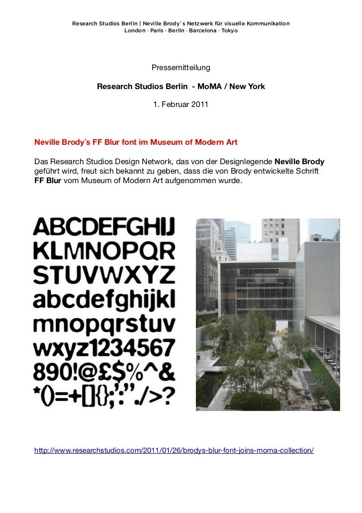 Research Studios Berlin | Neville Brody´s Netzwerk für visuelle Kommunikation                            London · Paris · ...