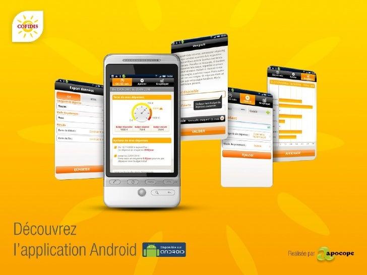Application Android - COFIDIS POCKET BUDGET