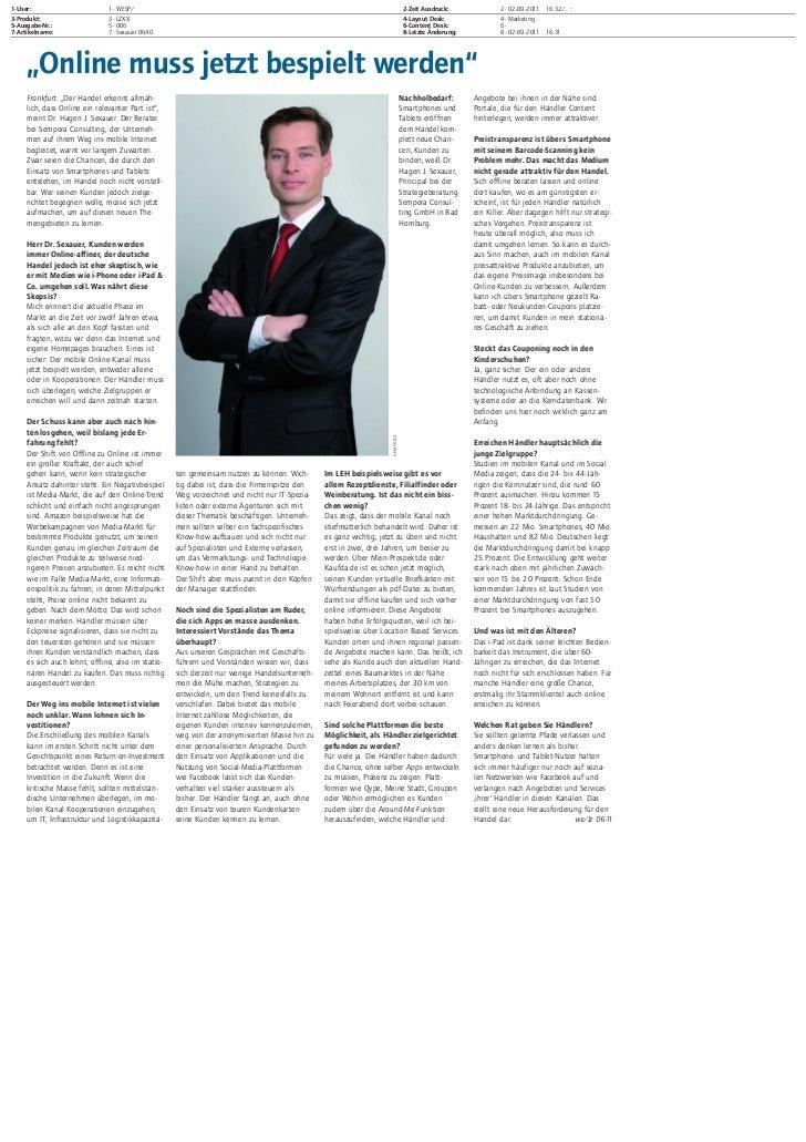 Mobiles Internet im Handel (2) - Hagen Sexauer