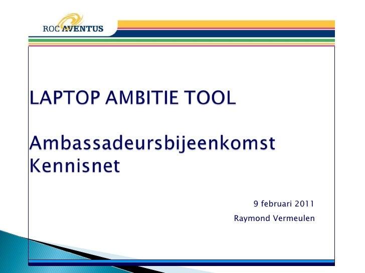 Ambitietool implementatie laptops