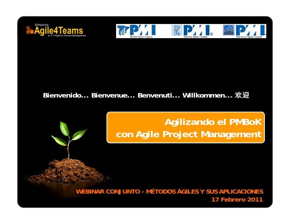 Agilizando PMBOK (con Agile Project Management)