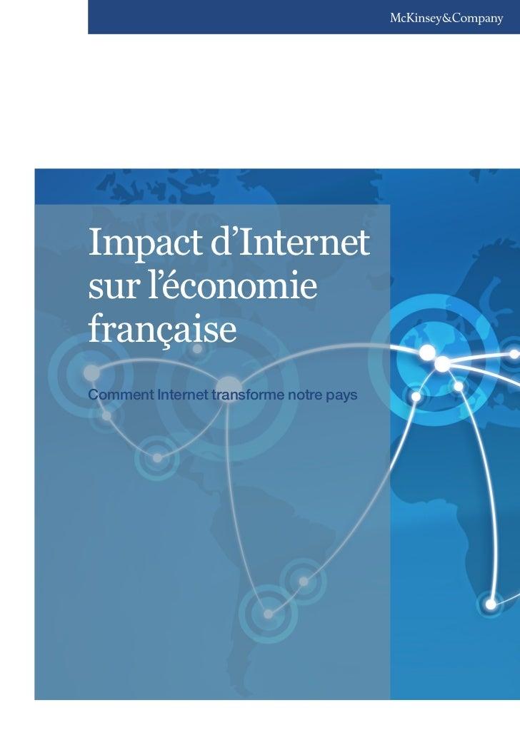 Impact d'Internetsur l'économiefrançaiseComment Internet transforme notre pays