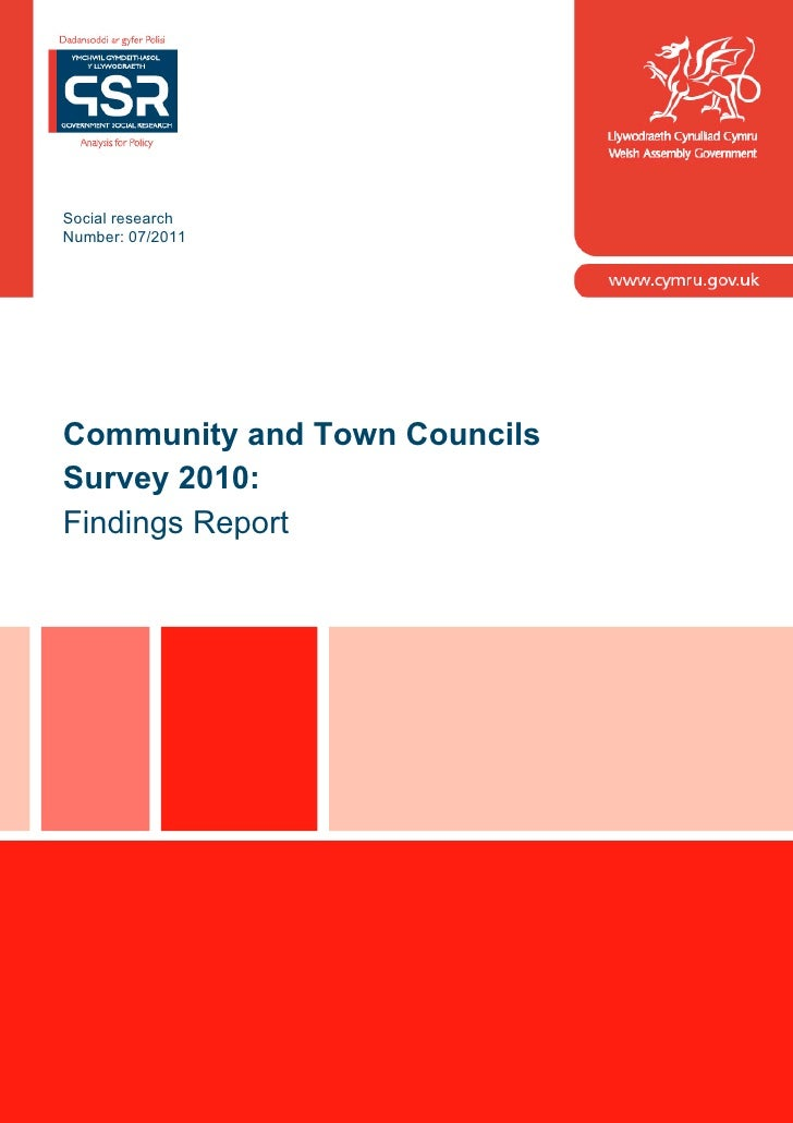 Social researchNumber: 07/2011Community and Town CouncilsSurvey 2010:Findings Report                  Sdf                 ...