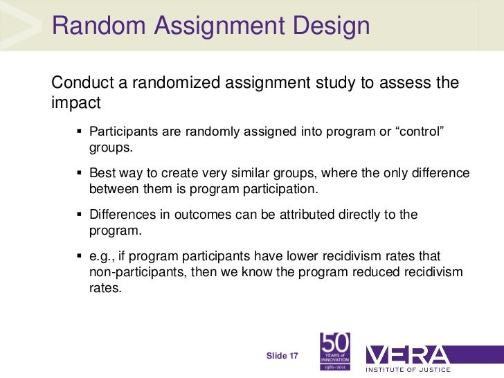 Benefits of random assignment