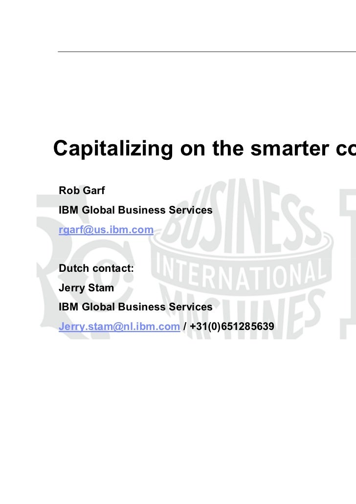 Whats going on in retailing - IBM - Rob Garf - Plenary session final