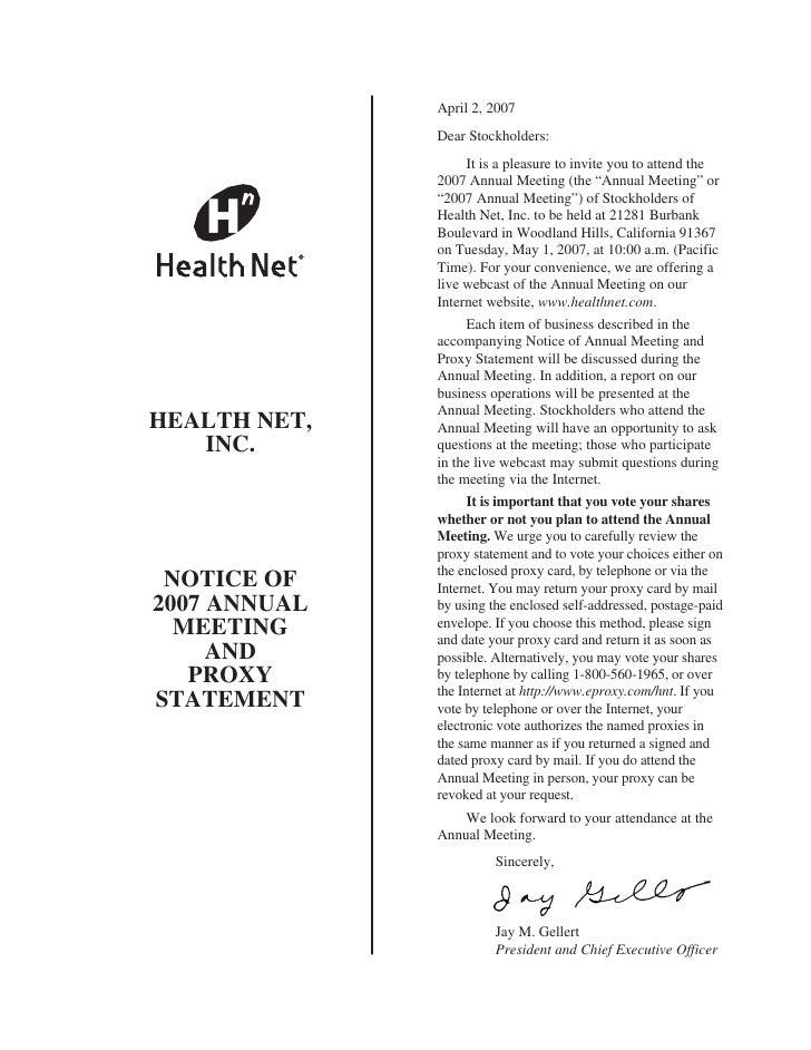 helath net 2007 Ann Mtg_and Proxy Stmt