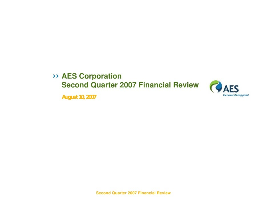 AES 2Q07 Review