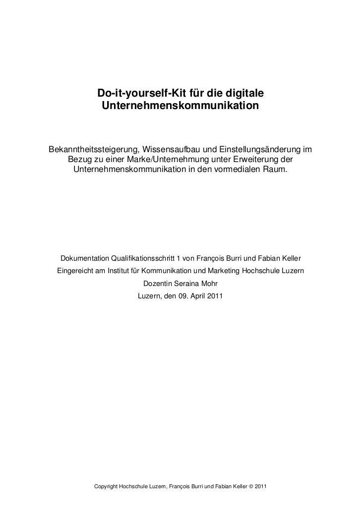 Dokumentation: Do-it-yourself-Kit für die digitale Unternehmenskommunikation