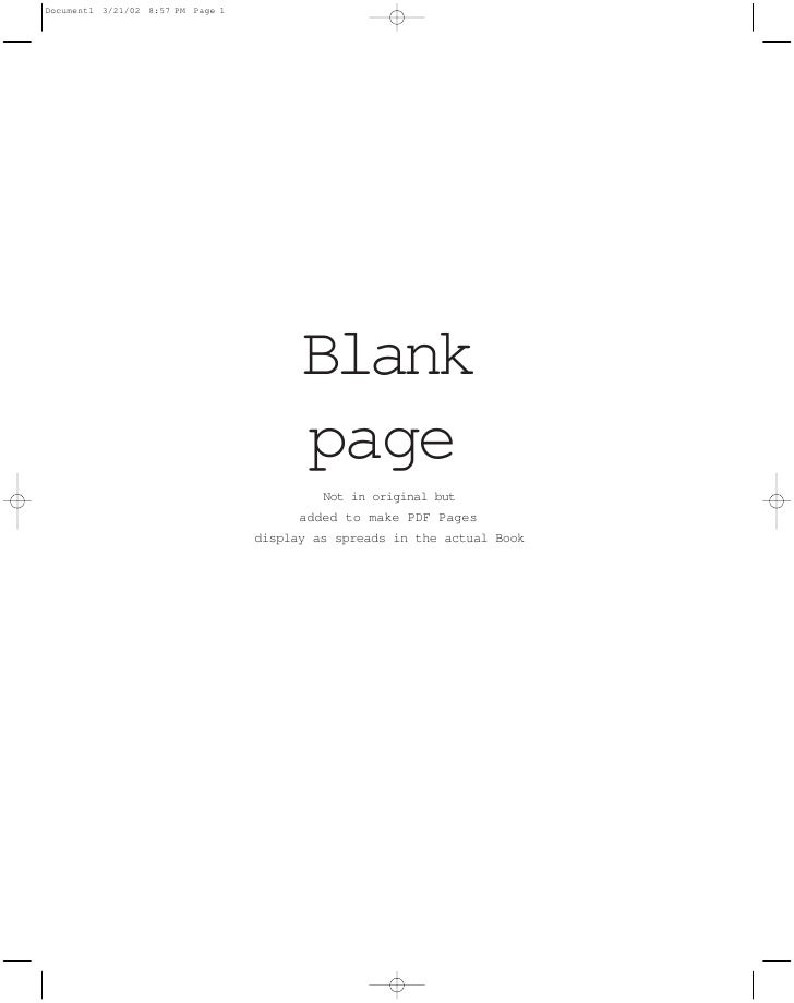Blank       page          Not in original but       added to make PDF Pages display as spreads in the actual Book