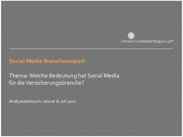 Social Media Versicherungsbranche