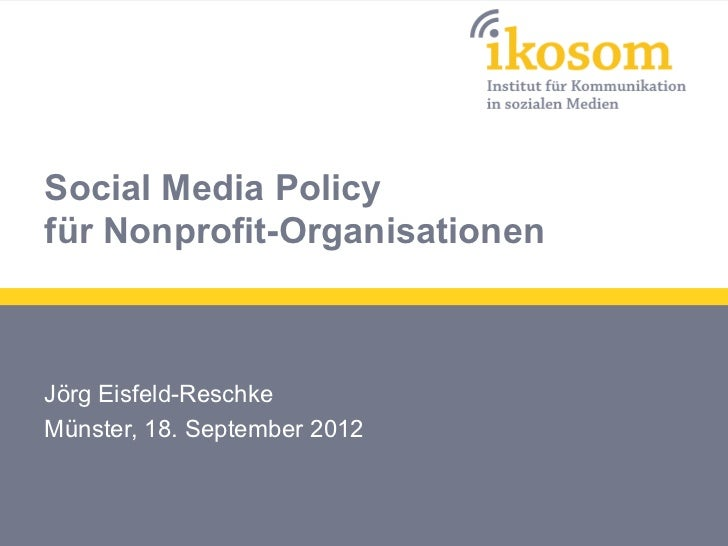 Social Media Policy für Nonprofit-Organisationen