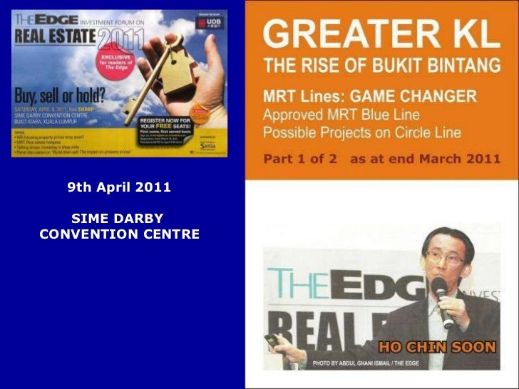 9th April 2011 SIME DARBY  CONVENTION CENTRE