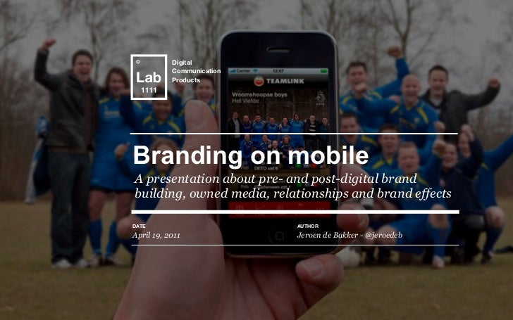Text           Digital           Communication           ProductsBranding on mobileA presentation about pre- and post-digi...