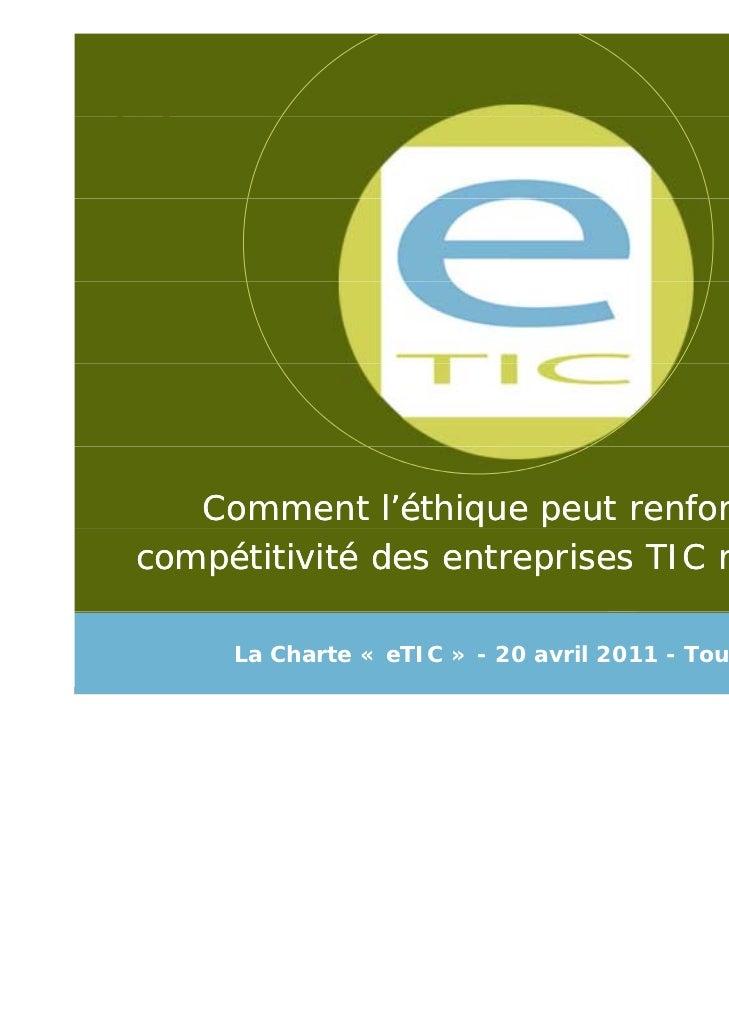 Présentation de la Charte eTIC et du secteur TIC wallon
