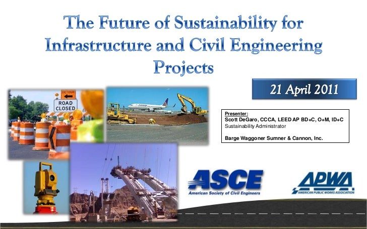 Presenter:Scott DeGaro, CCCA, LEED AP BD+C, O+M, ID+CSustainability AdministratorBarge Waggoner Sumner & Cannon, Inc.
