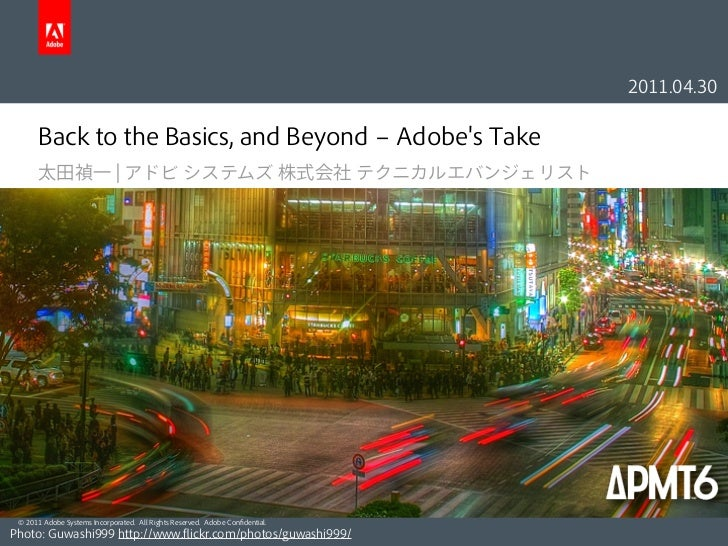 Back to the Basics, and Beyond - Adobe's Take