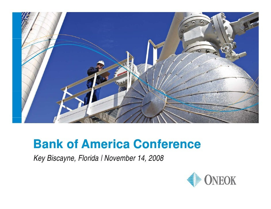 ONEOK to Present at Bank of America Conference