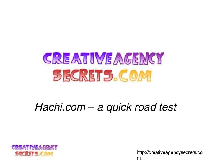 Hachi.com – a quick road test<br />