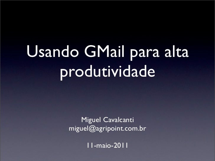 Gmail para produtividade