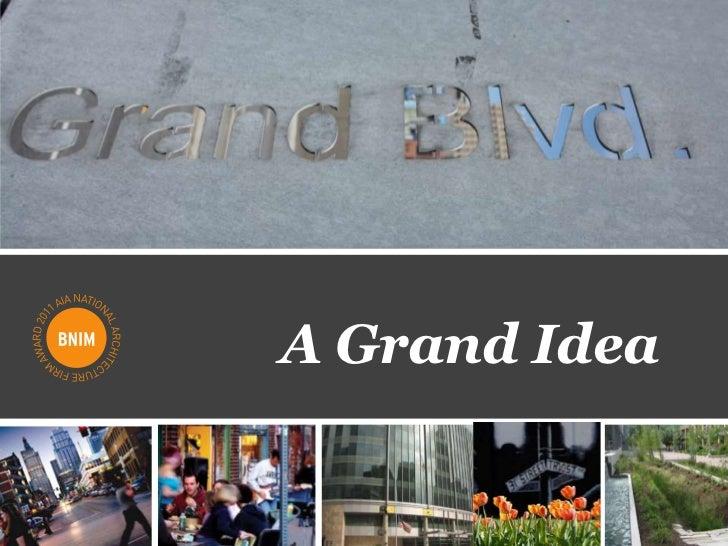 Grand Boulevard Streetscape Proposal