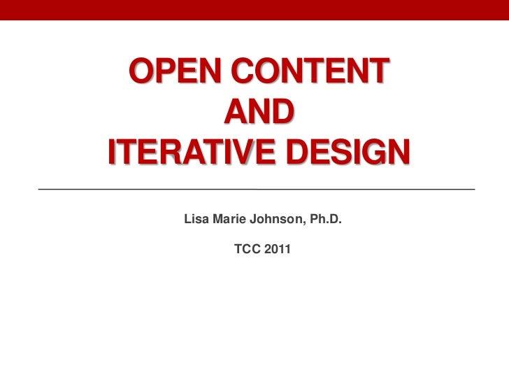 TCC2011 Open Content & Iterative Online Course Design