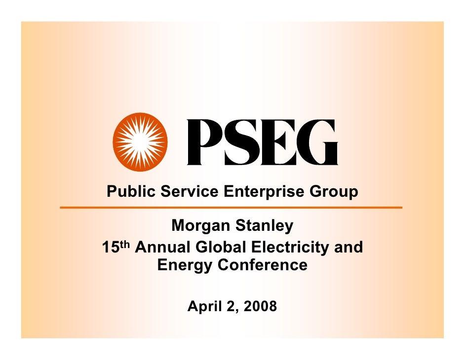 public serviceenterprise group Morgan Stanley FINAL