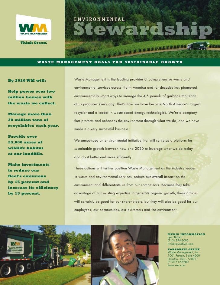 waste management Environmental Stewardship