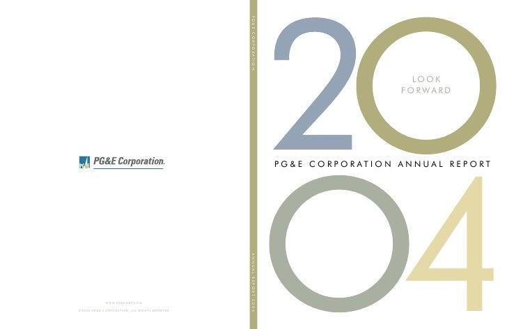 pg & e crop 2004 Annual Report