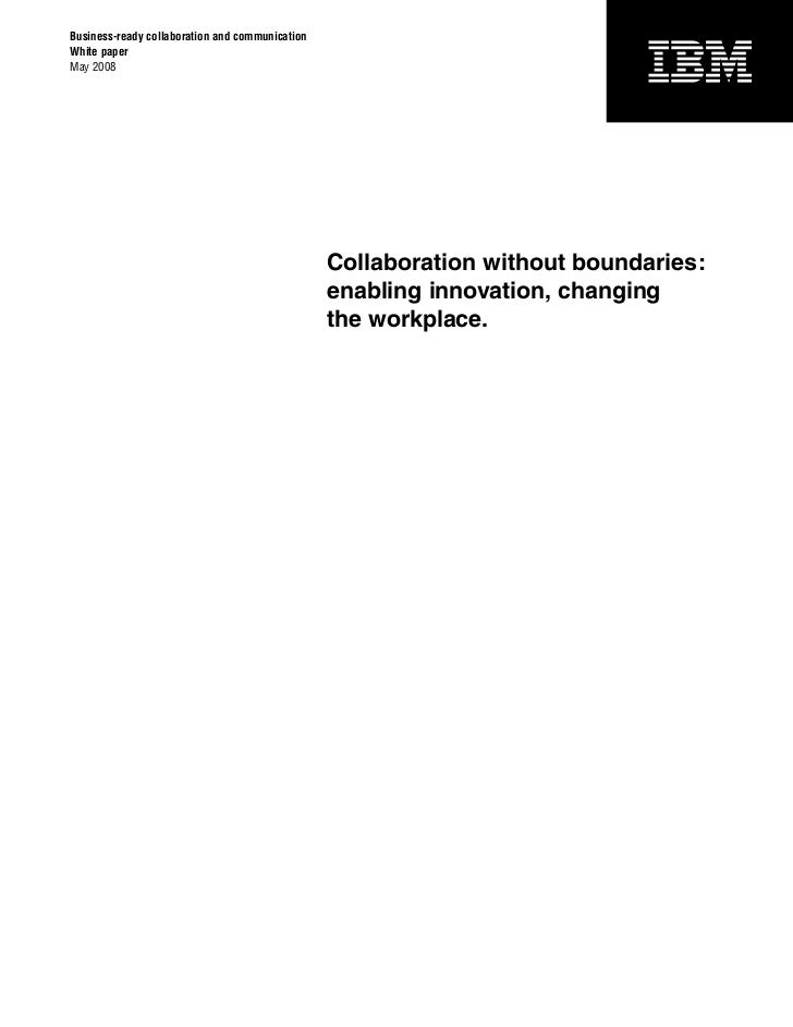 Collaboration Without Boundaries