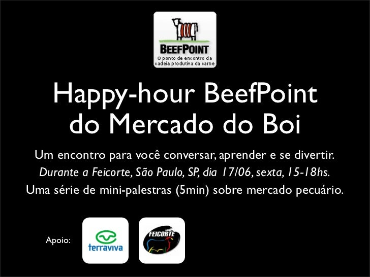 Happy-hour BeefPoint do mercado do boi na Feicorte