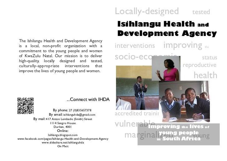 Locally-designed            tested                                                                 Isihlangu Health and   ...