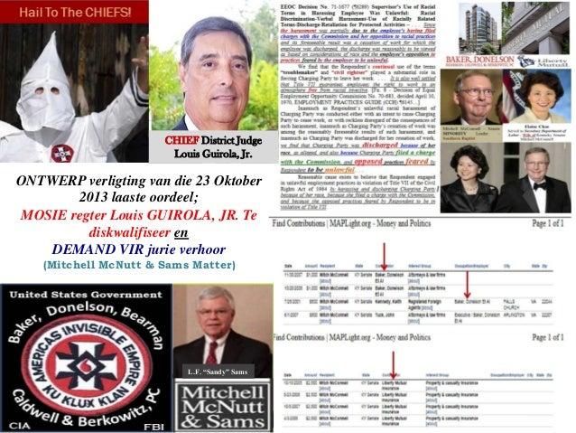 CHIEF District Judge Louis Guirola, Jr.  ONTWERP verligting van die 23 Oktober 2013 laaste oordeel; MOSIE regter Louis GUI...
