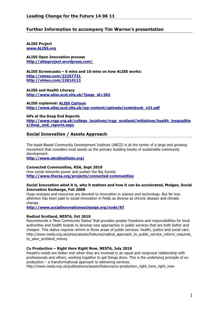 110614   tim warren handout - choy resource sheet