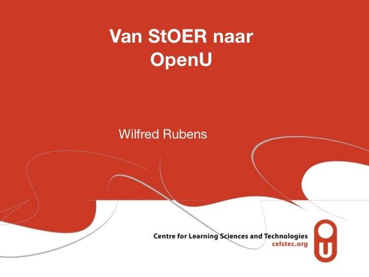 Van StOER naar    OpenUWilfred Rubens