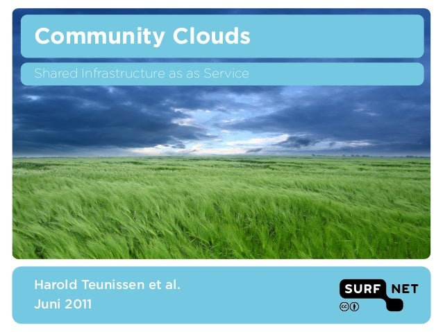 Community CloudsShared Infrastructure as as ServiceHarold Teunissen et al. – SURFnetCloud Seminar – 16 June 2011