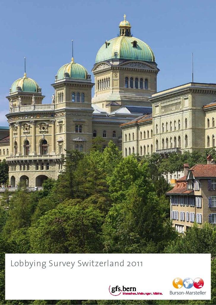 Lobbying Survey Switzerland 2011