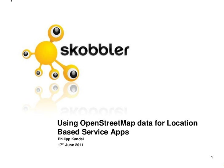 Using OpenStreetMap data for Location Based Service Apps