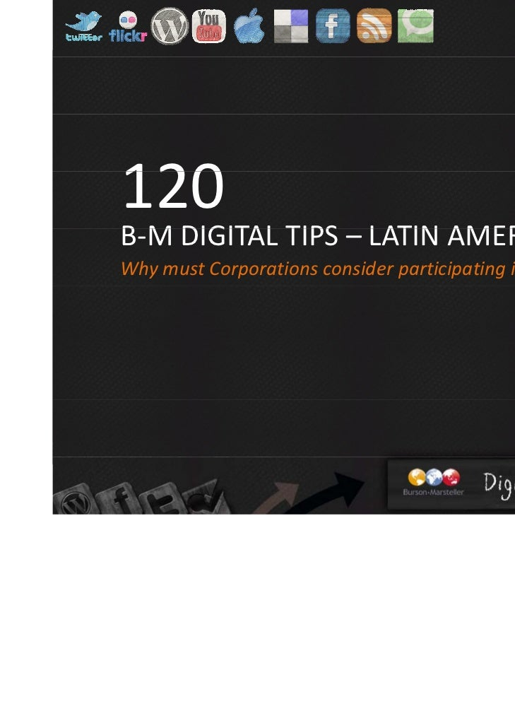 120 B-M Digital Tips - Latin America (English version)