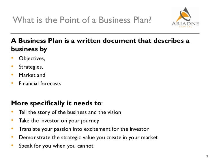 What is an business plan