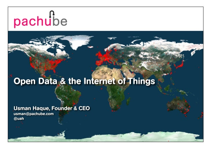Pachube & IoT funding @ Internet of Things Europe 2011