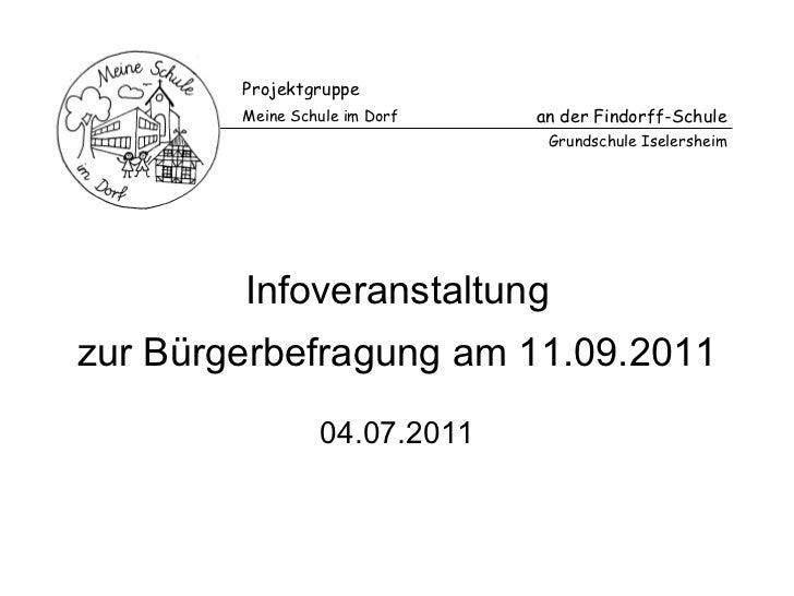Infoveranstaltung 04.07.2011