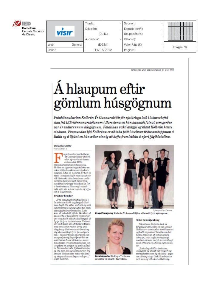 Clipping Visir 11/07/12 @ IED Barcelona