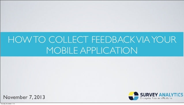 How to Collect Feedback via Your Mobile Application