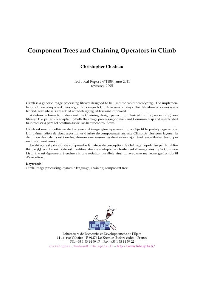 Climb – Chaining Operators - Report
