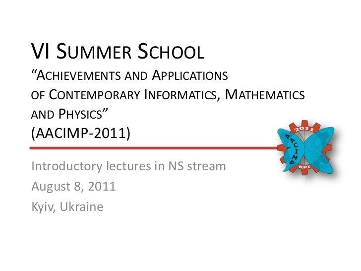 AACIMP 2011 Neuroscience