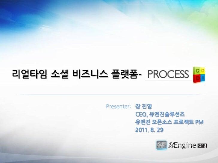 리얼타임 소셜 비즈니스 플랫폼-            Presenter: 장 짂영                       CEO, 유엔짂솔루션즈                       유엔짂 오픈소스 프로젝트 PM    ...