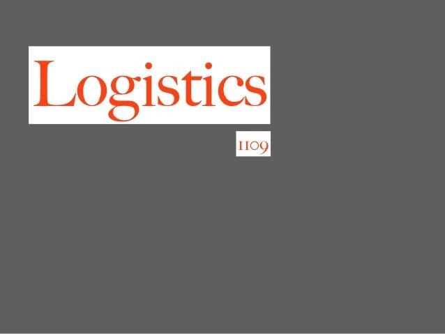 Logistics       1109